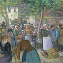Camille Pissarro - Poultry Market at Gisors - Google Art Project.jpg