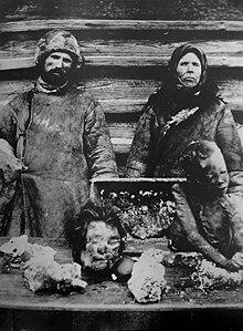Kannibalen und ihre opfer während einer hungerkatastrophe in russland