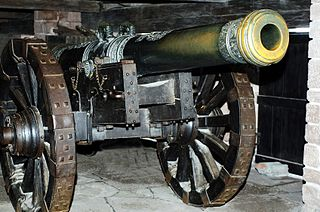 Cannon Class of artillery which fires at a low or flat trajectory
