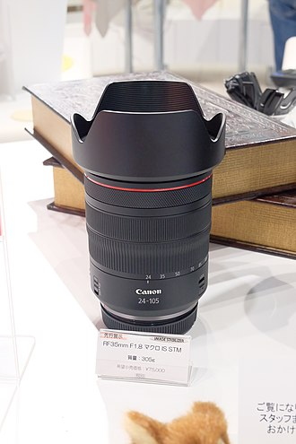 Canon RF mount - Image: Canon RF24 105mm F4 L IS USM 07 sep 2018