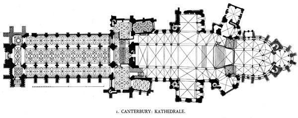 Canterbury cathedral plan