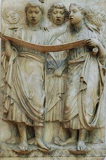 Raffigurazione di giovani che cantano il Salmo 150 (Laudate Dominum), Museo dell'Opera del Duomo (Firenze)