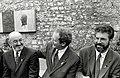 Caoimhghín Ó Caoláin, Martin McGuinness & Gerry Adams at Bodenstown, 1997.jpg