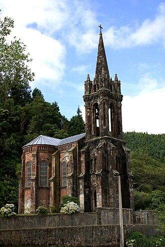José do Canto - Chapel of Nossa Senhora das Vitórias, built by José do Canto beside Furnas Lake, as a mausoleum