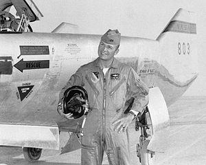 Jerauld R. Gentry - Capt Gentry by M2-F2 in 1966