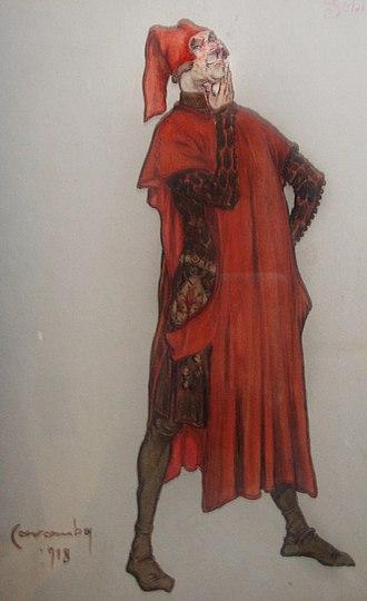 Gianni Schicchi - Sketch for Gianni Schicchi costume (1918)