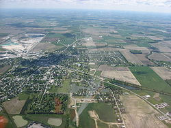 Aerial view of Carey