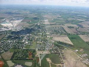 Carey, Ohio - Aerial view of Carey