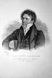 Carl Ludwig Costenoble, Lithographie von Josef Kriehuber, 1829 (Quelle: Wikimedia)