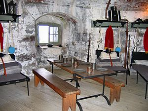 Carleton Martello Tower - Interior of Carleton Martello Tower