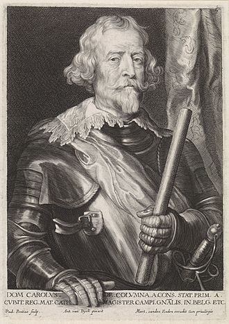 Siege of Doullens - Portrait of Don Carlos Coloma by Anthony van Dyck.
