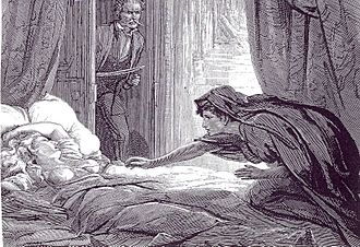 1872 in literature - Illustration to Carmilla by D. H. Friston (The Dark Blue, 1872)