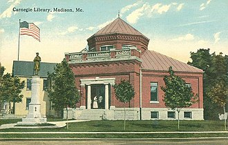 Madison, Maine - Image: Carnegie Library, Madison, ME