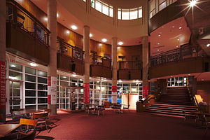 Carnegie Mellon School of Drama - Main atrium of the Purnell Center for the Arts, a building constructed specifically for the School of Drama.