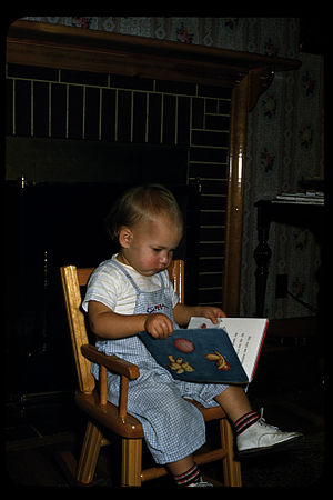 Carol reading babys first book
