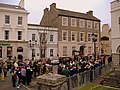 Carol singing in the square, Castletown, Isle of Man - geograph.org.uk - 297939.jpg