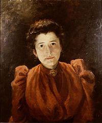 Carolina Anna Teixeira de Mattos, zelfportret ca.1875 - 1899.jpg