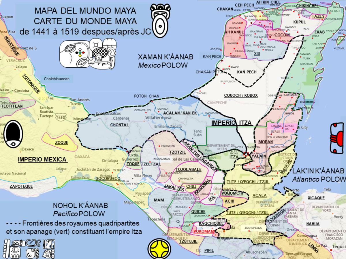 les mayas carte