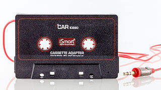 Cassette tape adapter Adapter to allow playback of external sources through a tape player