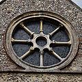Castle Hedingham, St Nicholas' Church, Essex England, chancel east wheel window.jpg