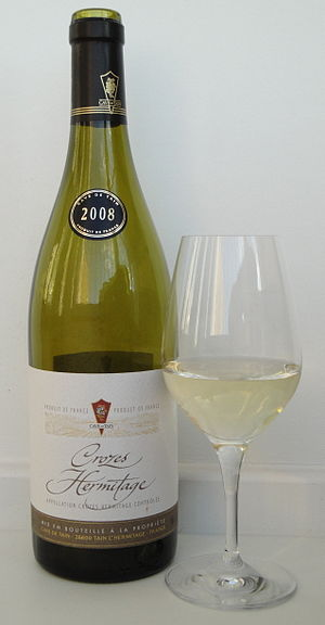 Marsanne - A white Crozes-Hermitage produced from 100% Marsanne. As is the case for most French AOC wines, the variety is not mentioned on the front label.
