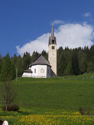 Falcade - the old Church of Caviola.