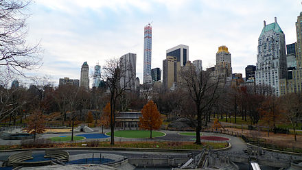 Central Park, New York City, US, designed by Frederick Law Olmsted. Central park manhattan 2 New York photo D Ramey Logan.jpg