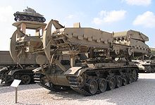 Ex-IDF Centurion ARK bridgelayer at Latrun museum