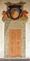 Certosa di firenze, chiesa di san lorenzo, ext., portali dipinti 03.JPG