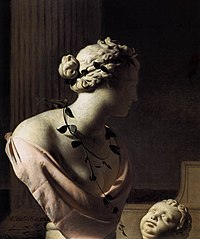 Trompe l'oeil with a bust of Venus