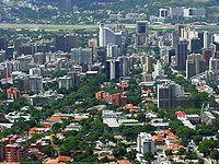 Vista de la urbanización Altamira, en el este de Caracas.