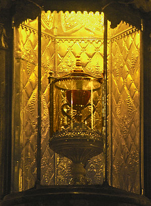 Holy Chalice - The Valencia Chalice in its chapel in Valencia Cathedral