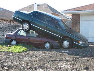 Chalmette, Louisiana - Hurricane Katrina: cars in Chalmette, post-hurricane.