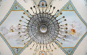 Chandelier of the nineteenth century in the Museo di Capodimonte (Napoli).jpg