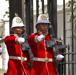 Changing of the guard, Royal Gibraltar Regiment (2012)