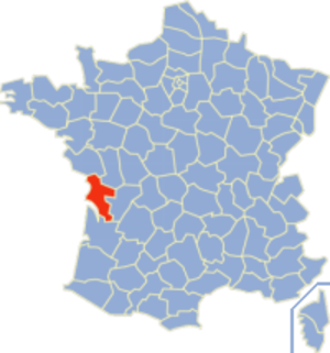 Communes of the Charente-Maritime department - Image: Charente Maritime Position