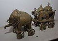 Chariot Drawn with Elephant Riders - Bronze - Circa 19th Century CE - ACCN V-82 - Government Museum - Mathura 2013-02-24 6525.JPG