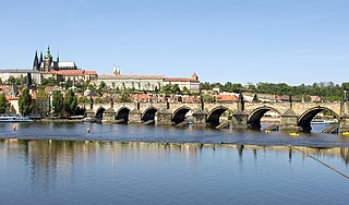 Charles Bridge bridge in Prague