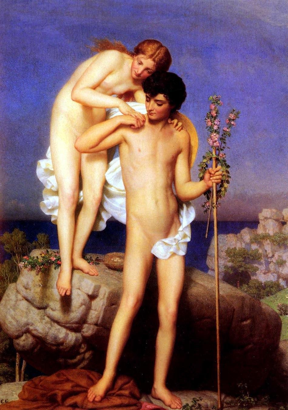 Charles Gleyre - Daphnis et Chloe revenant de la montagne