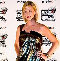 Theron dum Meteor Music Awards en Irlando en 2008