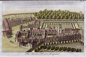 Charterhouse Hospital, engraved by Toms, c.1770.