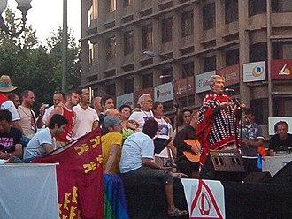 Chavela Vargas - Vargas during a concert in Spain, 2006.