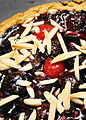 Cherry tart with slivered almonds, 2009.jpg