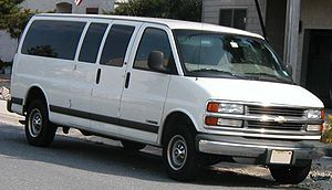 1997-2002 Chevrolet Express photographed in USA.