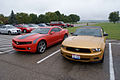 Chevrolet Camaro 2010 RS Ford Mustang 2010 LFronts NMUSAF 26Sep09 (14413653379).jpg