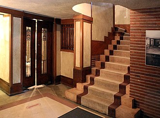 Robie House - Muted natural colors are used throughout