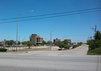 Chicago Heights, Illinois - Looking east across Chicago Road