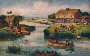 Wolf Point, Chicago - Wolf Point in 1833