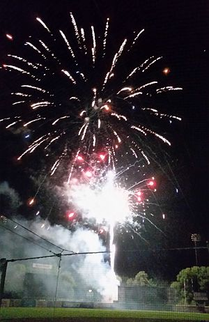 Syracuse Chiefs - Fireworks following Syracuse Chiefs home game, August 2016