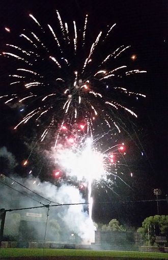 Syracuse Mets - Fireworks following Syracuse Chiefs home game, August 2016